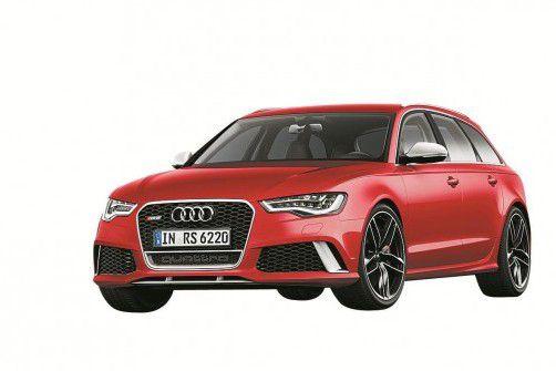 Hochleistungssportler für den Alltag: der neu Audi RS6 mit 560 PS Leistung. Foto: WErk