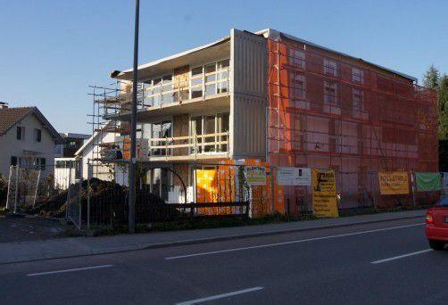 Im April 2013 wird das Wohnprojekt fertiggestellt sein. Foto: eh