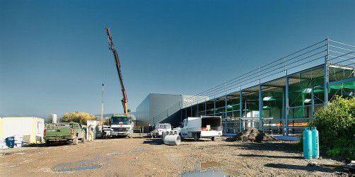Im Frühjahr respektive im Sommer werden die zwei Bauvorhaben der faigle Gruppe in Hard abgeschlossen. Foto: faigle