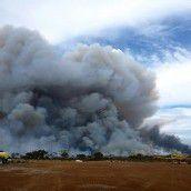 Hitzewelle in Australien: Blitz löst Buschbrand aus