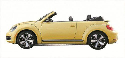 In nur 9,5 Sekunden zum offenen Kult-Auto. VW zeigt in Los Angeles jetzt erstmals das neue Beetle Cabrio. Foto: Werk