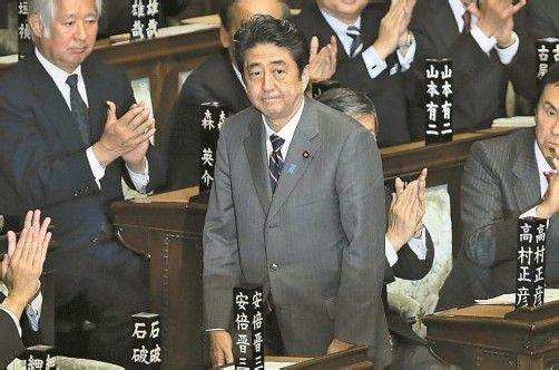 Japans alter und neuer Premierminister: Shinzo Abe (58) von der Liberaldemokratischen Partei. Foto: EPA