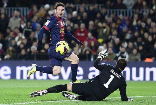 Lionel Messi erzielte in diesem Kalenderjahr bereits 84 Tore für den FC Barcelona. Bricht der Argentinier heute den Rekord von Müller?