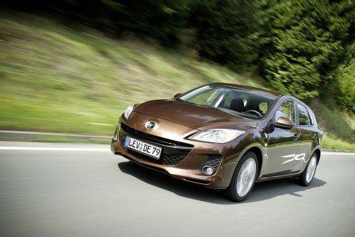 Mazda legt am Dreier dezent Hand an. Foto: Werk