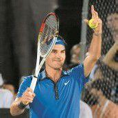 Federer-Sieg bei der zweiten Exhibition