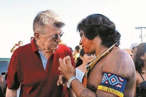 Russ-Preisträger Erwin Kräutler, Bischof der Diözese Xingu, setzt sich für indigene Völker ein, die vom Bau Belo Montes betroffen sind. Foto: P.Xingu