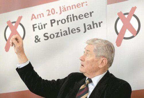 """SPÖ führt keine spürbare Kampagne: """"Das macht mir auch keine Freude"""", ärgert sich Androsch. Foto: APA"""