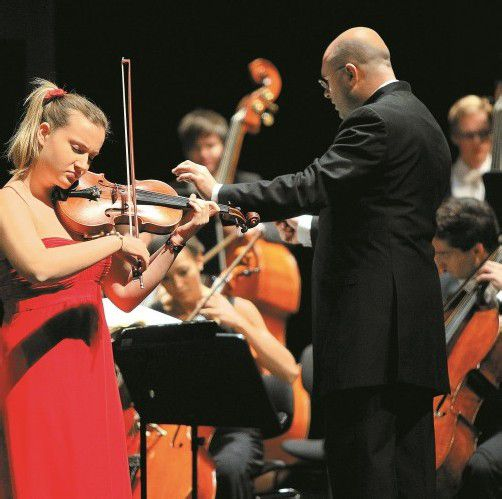 Sara Domjanic verzauberte die Besucher der Gala mit ihrer Virtuosität auf der Geige.