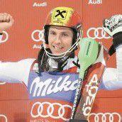 Slalom-Triumph – Hirscher gewinnt in Madonna /c1