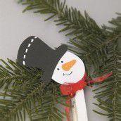 Bastelspass im Advent. Teil 7: Ein Schneemann als Christbaumschmuck