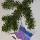 Bastelspass im Advent. Teil 3: Ein bunter Stern für den Christbaum