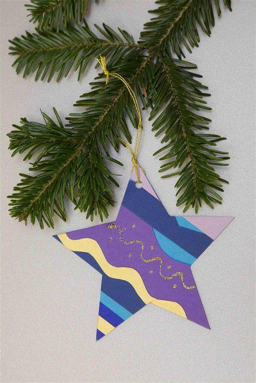 . . . fertig ist der Stern für den Christbaum.