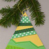Bastelspass im Advent. Teil 1: Ein Tannenbaum als Christbaumschmuck