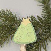 Bastelspass im Advent. Teil 11: Ein Tannenbaum mit Weihnachtsstern als Christbaumschmuck