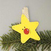 Bastelspass im Advent. Teil 8: Ein Weihnachtsstern als Christbaumschmuck