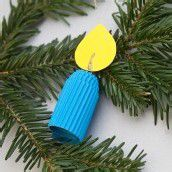 Bastelspass im Advent. Teil 15: Eine blaue Kerze für den großen Christbaum