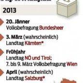 2013 wird Jahr voller Wahlen