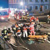 Zwei Schwerverletzte bei Unfall in Bregenz