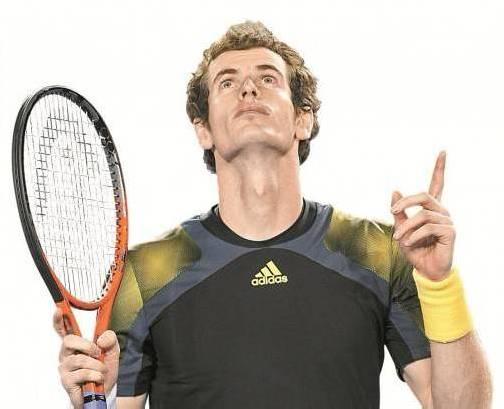 Andy Murray nach dem Erfolg über Roger Federer. Foto: EPA