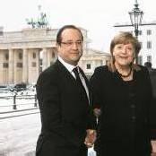 Hollande und Merkel feiern Élysée-Vertrag