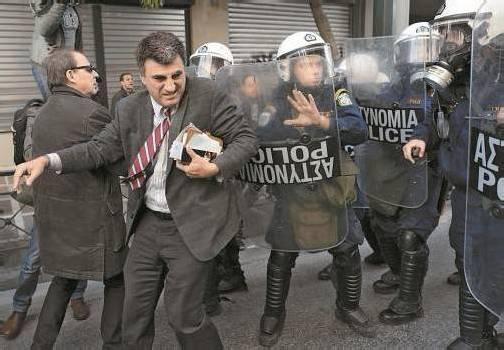 Die Polizei ging gegen Demonstranten in Athen vor. Foto: RTS