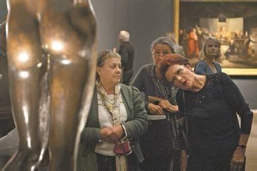 """Die Schau """"Nackte Männer"""", konzipiert von Tobias Natter, zählt zu den am besten besuchten Ausstellungen in Österreich. Foto: APA"""
