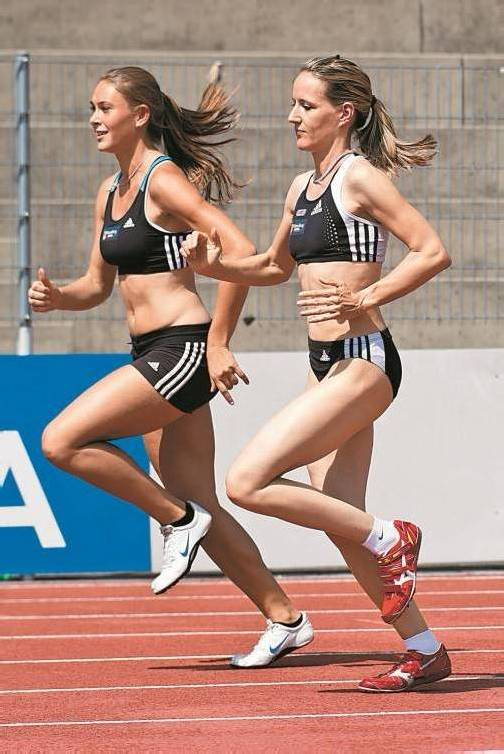 Die Sprint-Asse Rosalie Tschann (l.) und Doris Röser. Foto: steurer