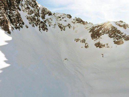 Die Wintersportler waren auf der östlichen Eisentalerspitze im Gemeindegebiet von Klösterle unterwegs. Foto: PI Gaschurn