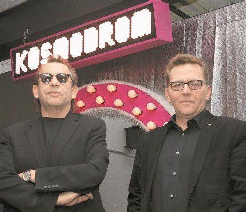 """Mit dem """"Kosmodrom"""" haben die Kosmos-Leiter Hubert Dragaschnig und Augustin Jagg nicht nur eine zusätzliche, kleine Musik-, sondern auch eine Lesebühne eingerichtet. Foto: VN/Paulitsch"""