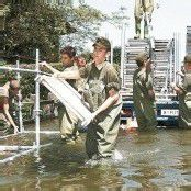 Schnell, effizient und hoch motiviert – im Katastrophenfall 1999