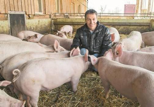 """Ing. Markus Gstach: """"Wenn ich sehe, wie gut es unseren Tieren jetzt geht, freut mich das sehr – und bedeutet für die ganze Familie, für alle mehr Lebensqualität."""""""
