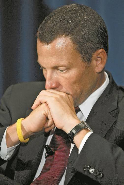 Lance Armstrong zeigte erstmals Gefühle. Foto: epa