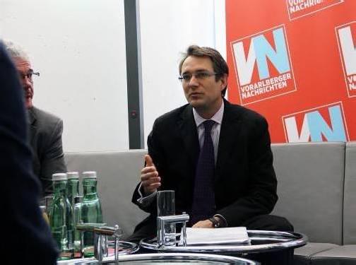 Mag. Gerald Walek zu Gast in der VN-Redaktion. Foto: vn/bem