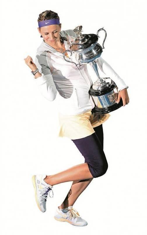 Nach Gold (Mixed) und Bronze (Einzel) bei Olympia setzte Asarenka ihren Erfolgslauf mit der Titelverteidigung in Melbourne fort.