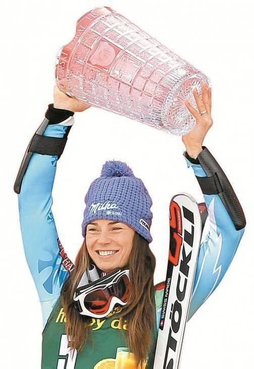 Nach der Slalom-Kristallvase für den Marburg-Sieg wartet auf Tina Maze auch die Weltcup-Kugel. Foto: gepa