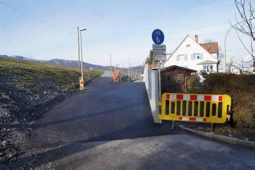 Radfahrer gelangen nun autofrei auf den bestehenden Radweg. Foto: eh