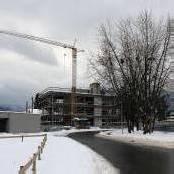 Eisige Ruhe auf Dornbirner Baustelle