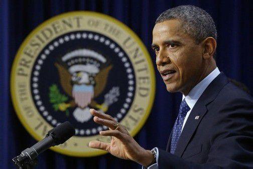 US-Präsident Obama, Erleichterung in Washington: Demokraten und Republikaner einigten sich buchstäblich auf den letzten Drücker. Foto: ap