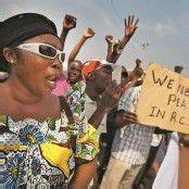 Demo für Frieden und gegen Kindersoldaten in Zentralafrika