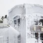 Eisskulptur nach Feueralarm