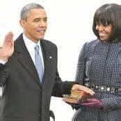 Zweite Amtszeit gestartet US-Präsident Obama angelobt /a4