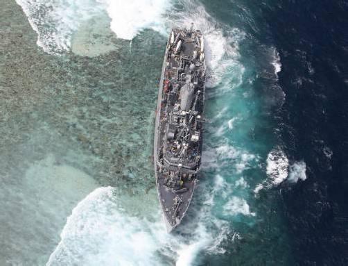 Das Schiff ist vor zwei Wochen vor den Philippinen auf ein Korallenriff gelaufen. Foto: dapd