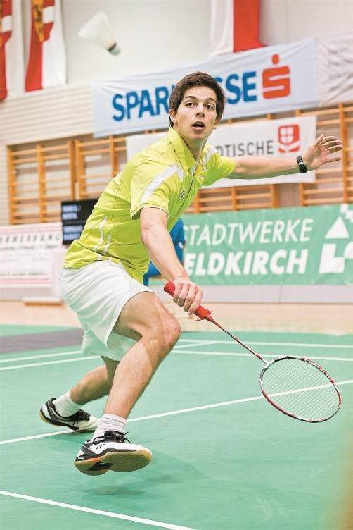 David Obernosterer holte den ersten Staatsmeistertitel für Vorarlberg im Herren-Einzel. Foto: steurer