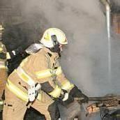 Hausfassade in Brand geraten