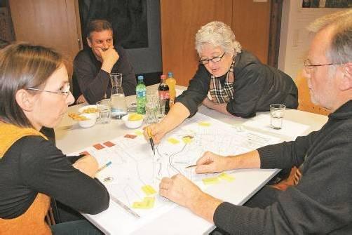 Die Ideenwerkstatt stieß bei der Satteinser Bevölkerung auf großes Interesse. Foto: he