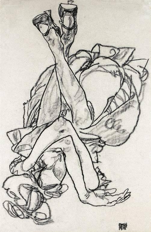 """Egon Schieles """"Am Rücken liegendes Mädchen. Foto: APA"""