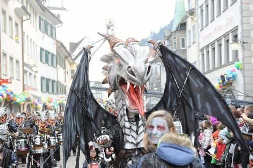 Größter internationaler Faschingsumzug in Feldkirch. foto: Feldkirch tourismus