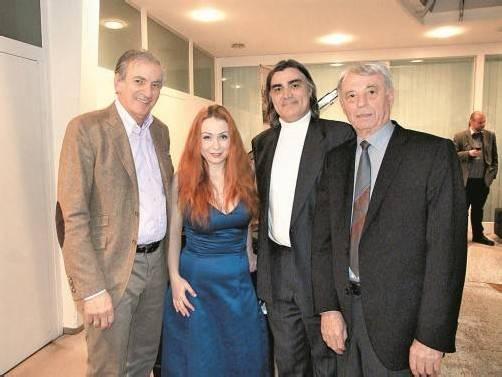 Hatten zur Präsentation geladen: Irakli Gogibedaschwili (l.) sowie Regina Chernychko mit Robert Bokor und Josef Kloiber. FotoS: FRANC