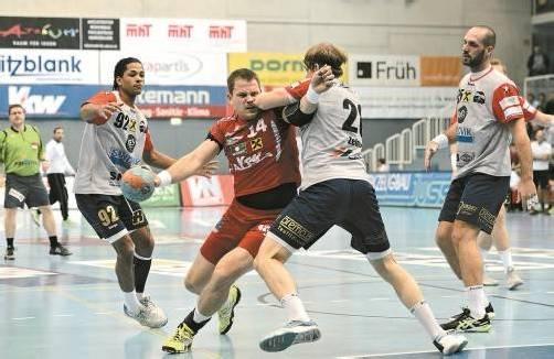 Kreisläufer Janis Glusaks könnte wegen seiner Schleimbeutelverletzung für die restliche Saison ausfallen. Foto: stiplovsek