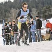 Auf Langlaufskiern zu Hause
